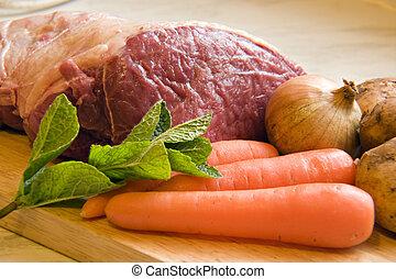 veg, carne