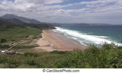 Vega beach 30 - beach of La Vega near to Ribadesella village...
