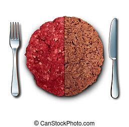 Vegan Burger And Meat