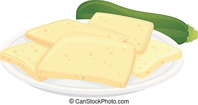 Vegan Cheese Zucchini Illustration - Illustration of Vegan...