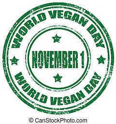 vegan, day-stamp, mundo