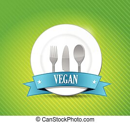 vegan food concept illustration design