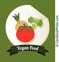 vegan food design, vector illustration eps10 graphic