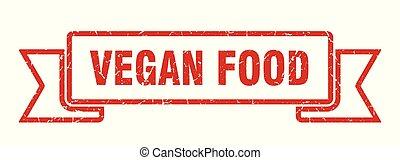 vegan food grunge ribbon. vegan food sign. vegan food banner