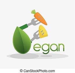 vegan food healthy nutrition design