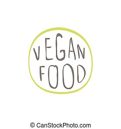 Vegan Food Label Abstract Organic Food Label On A Light Background