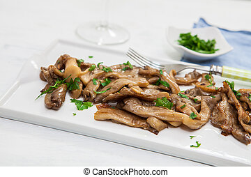 Vegan food on tray