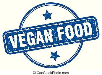vegan food round grunge isolated stamp