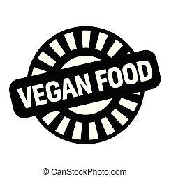 vegan food rubber stamp
