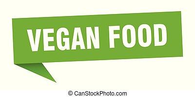 vegan food speech bubble. vegan food sign. vegan food banner