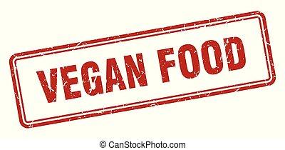 vegan food stamp. vegan food square grunge sign. vegan food