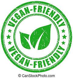 Vegan friendly stamp