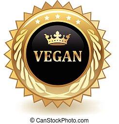 Vegan gold badge.