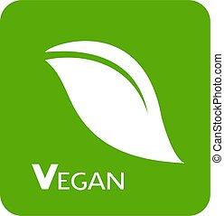 vegan green symbol