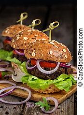 vegan, hamburger