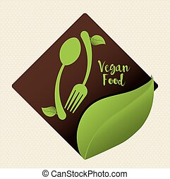 Vegan icon design - Vegan concept with eco icons design, ...