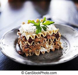 vegan, lasagna, hos, ost, og, kød, alternativer