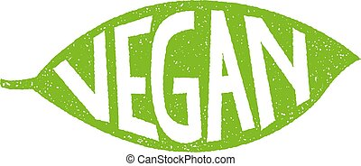 vegan leaf label