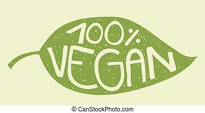 vegan leaf stamp