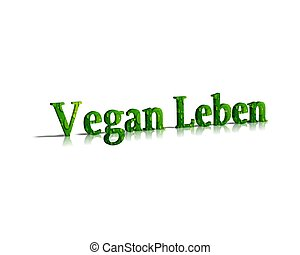 vegan leben 3d word