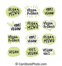 vegan logos and icons