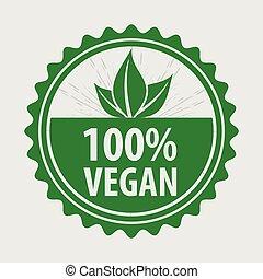 Vegan, Organic, natural product logo or label.