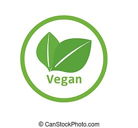 vegan, pictogram