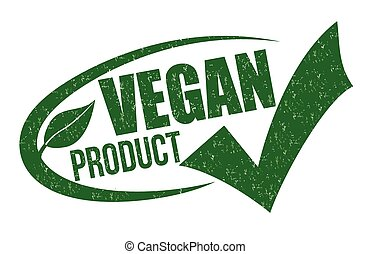 Vegan product stamp - Vegan product grunge rubber stamp on...