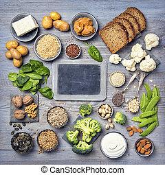 vegan, proteïne, bronnen