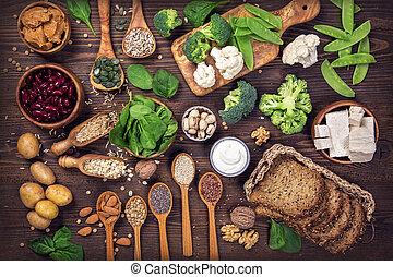 vegan, proteïne, sources.