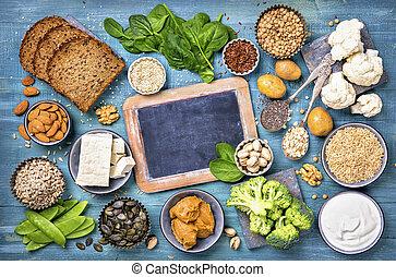 vegan, protein, upphov
