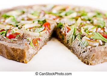 raw food quiche