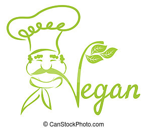 vegan, séf