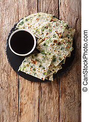 Vegan Scallion Pancakes are a crispy pan-fried Chinese ...
