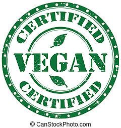 Grunge rubber stamp with word Vegan, vector illustration