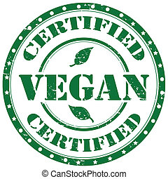 Vegan-stamp - Grunge rubber stamp with word Vegan,vector...