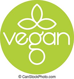 Vegan Vector Logo Icon Design