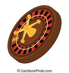 vegas, 图表, 轮盘赌, 娱乐场, 矢量, icon., las, design.