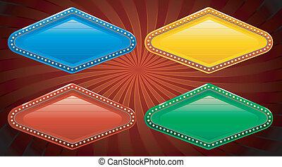 vegas, bandera, casino