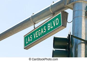 vegas, boulevard, rue, las, signe