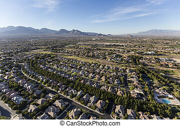 vegas, nevada, las, neighborhoodnaerial