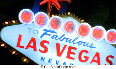 Vegas sign at night - zoom out (1 of 2)