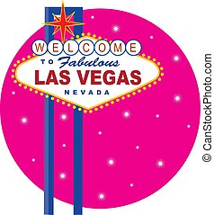 Vegas Sign - Vector illustration of the famous Las Vegas...