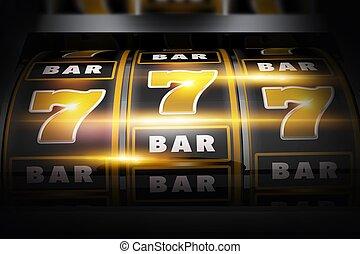 Vegas Slot Winner 3D Concept