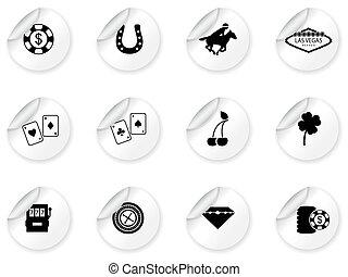 vegas, stickers, las, iconerne