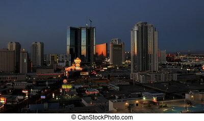 Vegas Sunrise Panning - High definition sunrise shot in las...