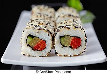 vegetáriánus, sushi