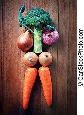 vegeta, comer saudável, idéia, cuidado
