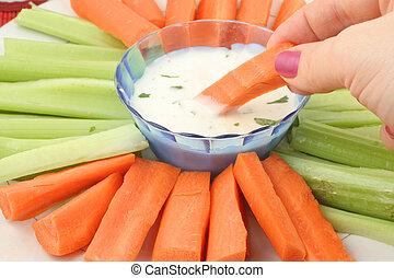 vegetabilisk uppläggningsfat