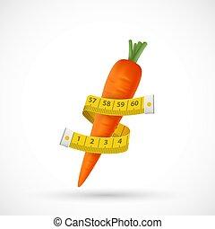 vegetable., αποκρύπτω , ταινία , τριγύρω , μέτρημα , ράφτης , καρότο